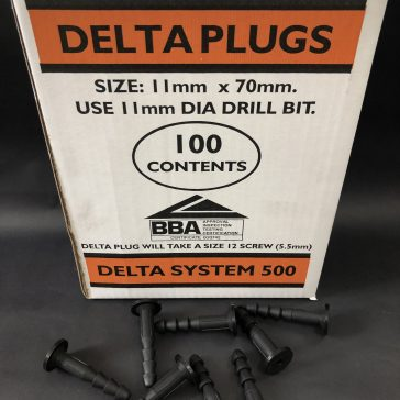 Delta Plugs 11mm-Box of 100