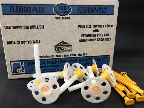 Delta Flexidri Plus Plugs for waterproofing membranes