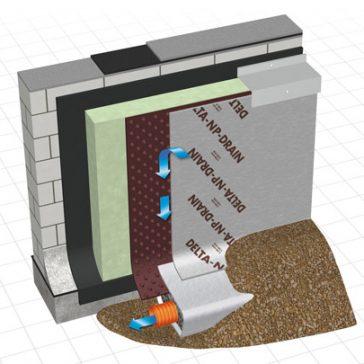 Delta NP Drain Membrane – 2.0 x 20m